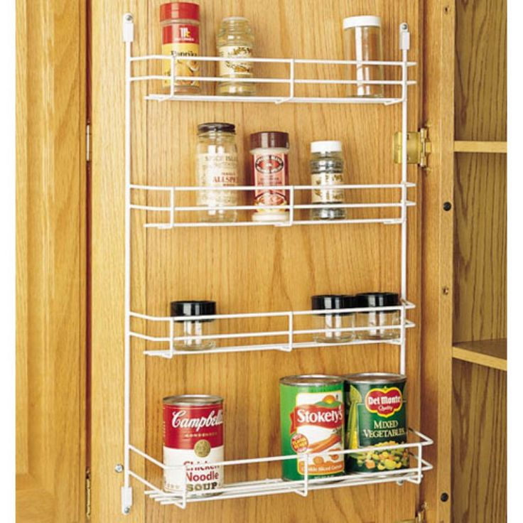 Rev-a-Shelf Wire Door Mount Spice Rack - R565-8-52