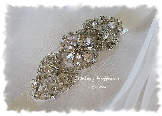 Rhinestone Crystal Beaded Bridal Headband, Rhinestone Headband, Jeweled Head Piece, Bridal Crystal Hair Comb, Wedding Headband, No. 4066HB