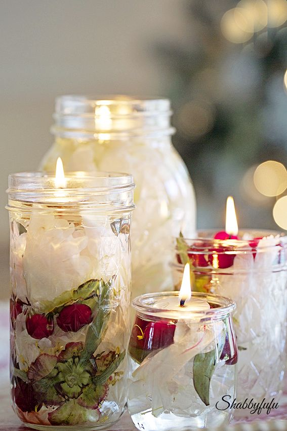 Easiest DIY Oil Candle Lights Ever/shabbyfufublog