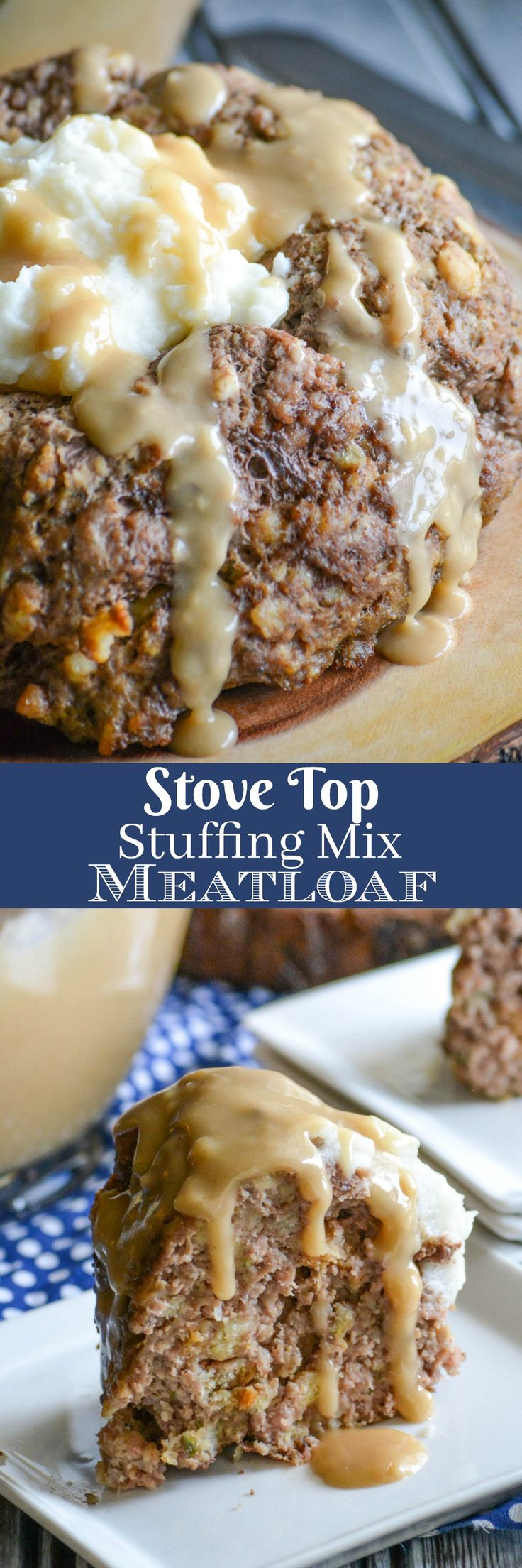 An easy meatloaf with a simple ingredient list, this Stove Top Stuffing Mix Meatloaf is the perfect dinner for busy nights. Served with creamy mashed potatoes and rich gravy, your family will never guess your secret to such a cozy meal. via @4sonrus
