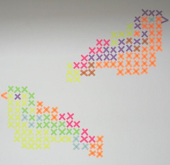 hama or cross stitch bird pattern