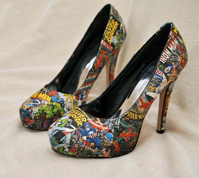 Custom Marvel Shoes any size - featuring spiderman, iron man etc!