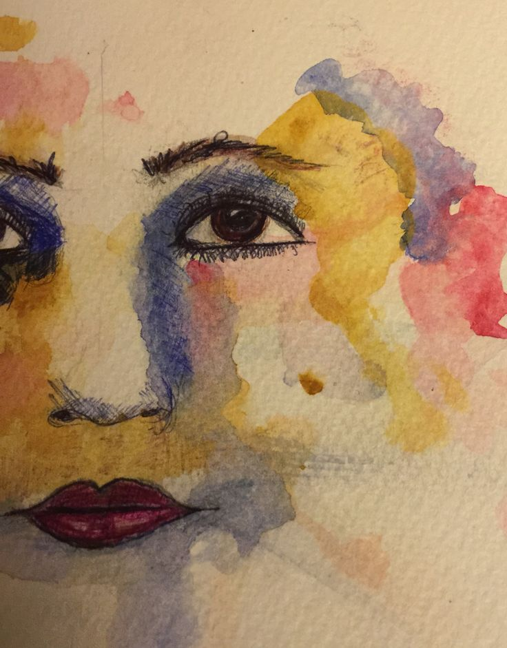 inspired by Maria Bolognesi art.. using water colors ...