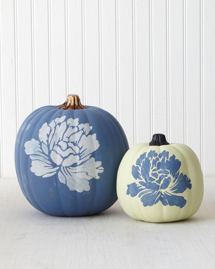 Chalk Paint Pumpkin | Martha Stewart Living - A matte finish that's flat-out spectacular.