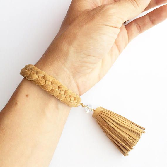 Leather braclet women leather braclet beige leather braclet