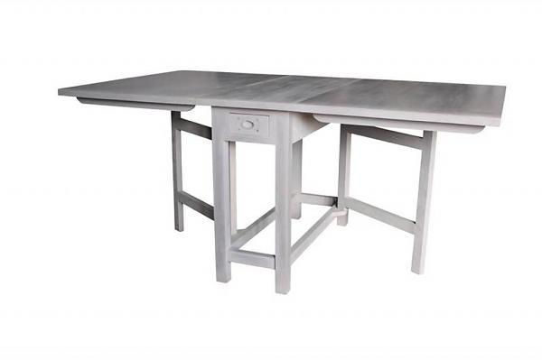 HK-living Tafel inklapbaar zweedse stijl grijs