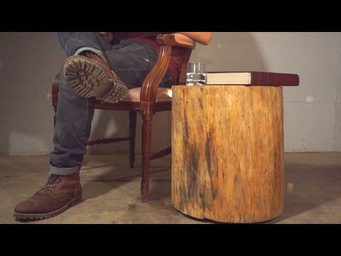 Diy Floating Log End Table Modern Builds Ep 5 Youtube