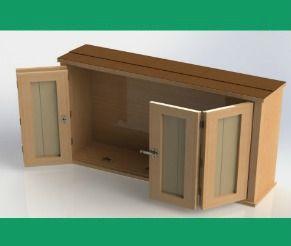 Beautiful Outdoor TV Cabinet With Double Doors Building Plan   DIY Backyard
