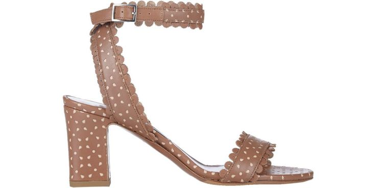 Wearing stiletto pumps can be exhausting, for summer days, take it down a notch in a reasonable stacked heel that still feels feminine and flirty. Tabitha Simmons sandals, $695, barneys.com.