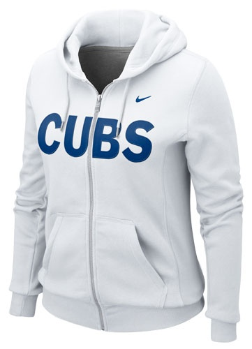Chicago Cubs Ladies White Classic Full Zip Hoodie by Nike (3.19.12)