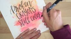 Source for photos: Brush Lettering: The Beginner's Guide, by Peggy Dean
