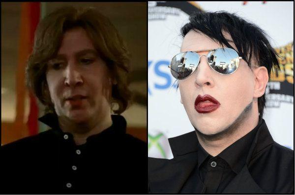 Chocante! Marilyn Manson aparece sem maquiagem em cenas de série americana http://glo.bo/1aoWErO