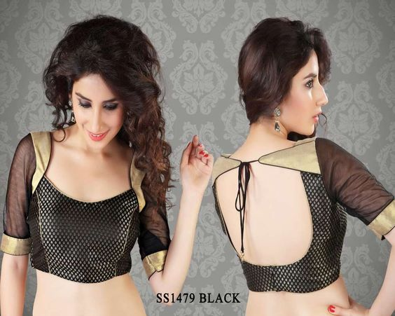 examples of grand blouses for ikkat sarees - Google Search