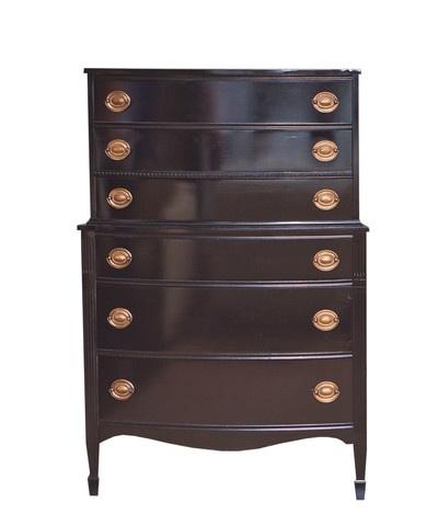 Vintage black chest of drawers dressers pinterest - Black chest of drawers for bedroom ...