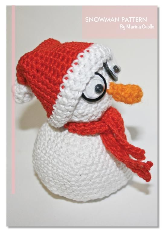 The Snowman by Marina Pattern | Crocheting Pattern - Looking for your next project? You're going to love The Snowman by designer Marina Pattern. - via @Craftsy