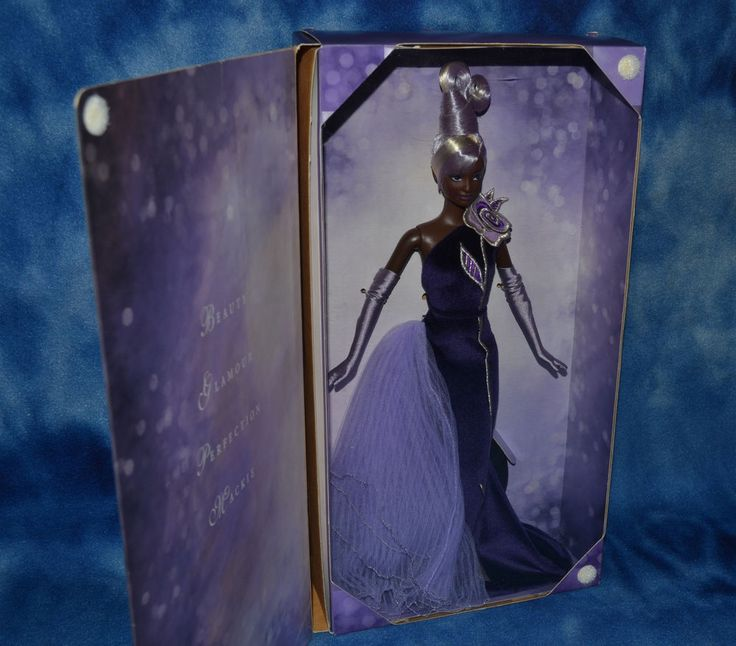 Bob Mackie The Sterling Silver Rose Barbie Collectibles Doll African American #Mattel #Dolls
