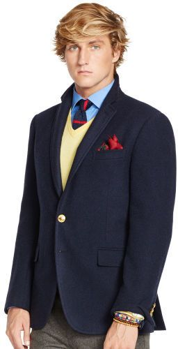 $895, Bedford Navy Twill Sport Coat by Polo Ralph Lauren. Sold by Ralph Lauren. Click for more info: http://lookastic.com/men/shop_items/155787/redirect