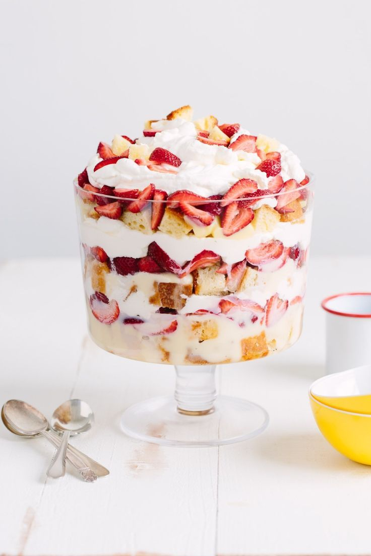 How To Make the Best Strawberry Shortcake Trifle Recipe. This AMAZING, EASY, no bake dessert is perfect for a mother's day brunch or easter party. Make the pound cake from scratch or use store bought for a shortcut. It's the best strawberry (or any fruit!) dessert you'll make all summer!
