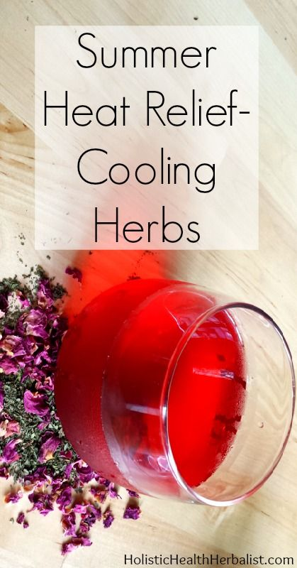 Summer Heat Relief Using Cooling Herbs - If you're melting in the summer heat try this cold brew herbal tea. Soothing, cooling, and reviving this tea is perfect for picnics, BBQs, or just when you're feeling a bit too warm for comfort.