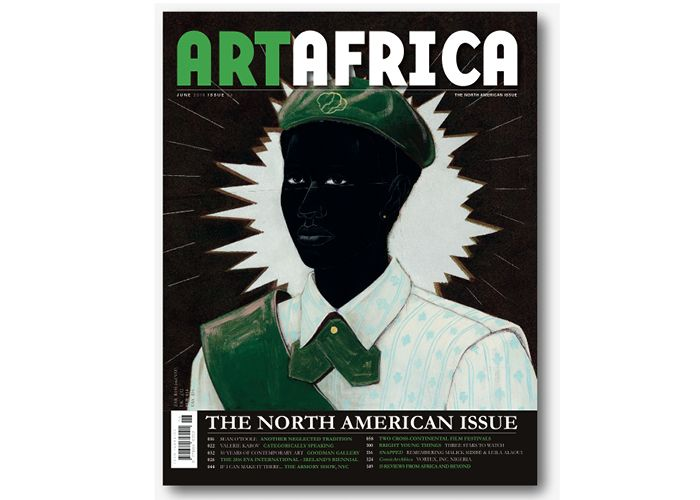 AA Newsletter May26 Ed1 ART AFRICA Vol.1 Iss.4 Cover, 'The North American Issue.' © ART AFRICA magazine