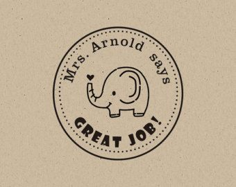 well done stamp-elephant stamp Teacher Stamp by mancoostamp