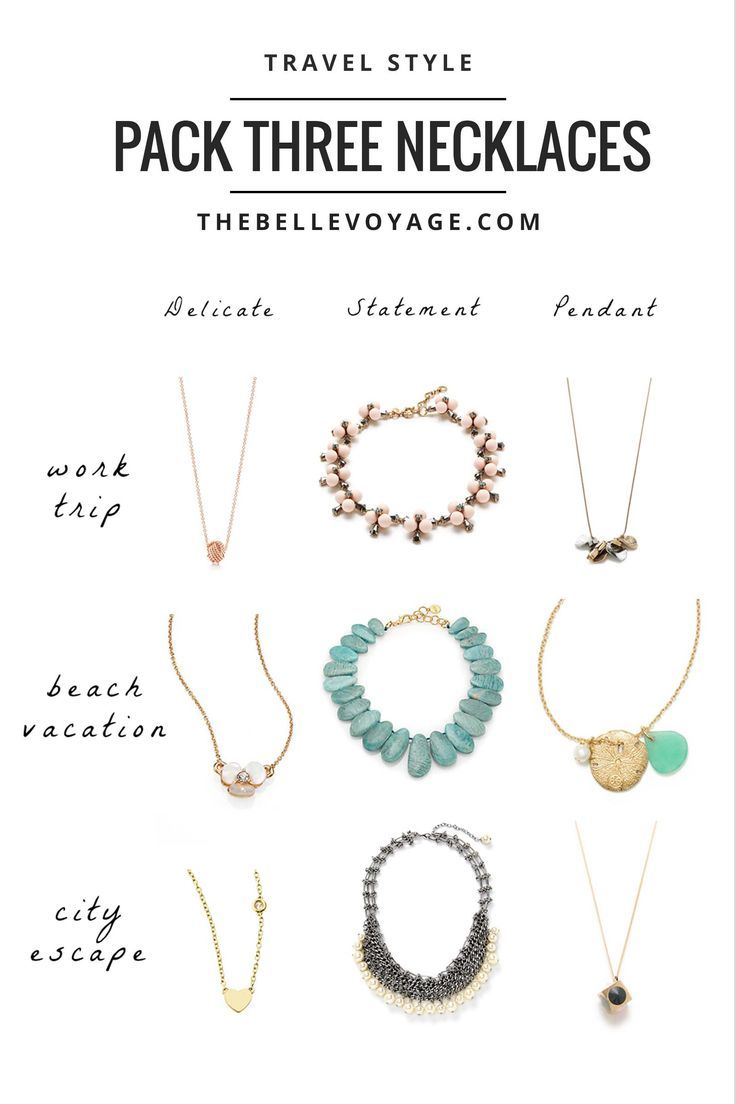 Travel Jewelry: The Rule of Three Necklaces | The Belle Voyage | Travel accessories for women.  Best travel jewelry.  Packing list accessories.