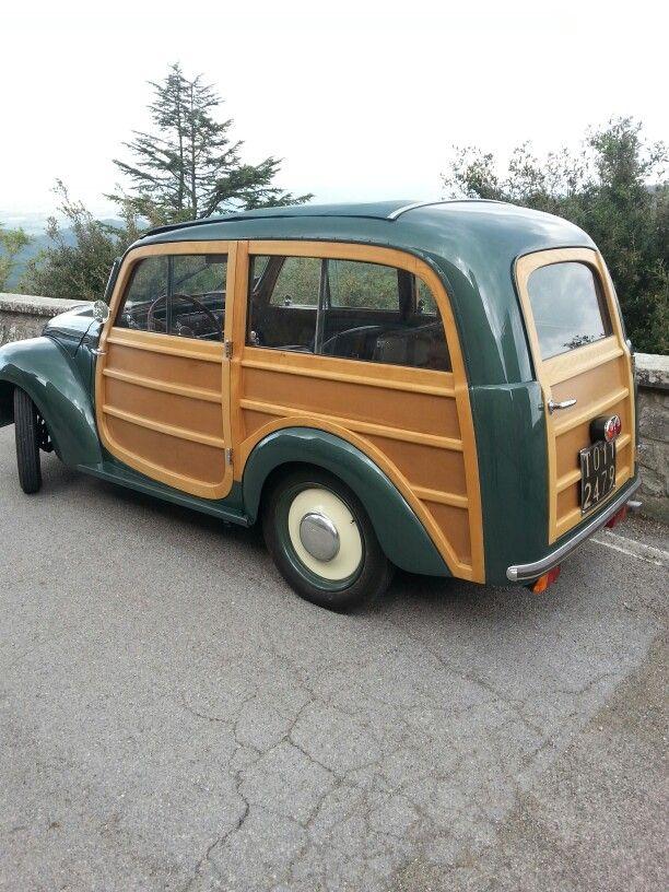 La Giardinetta Fiat in vero legno.