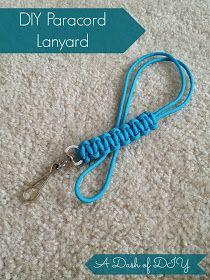 A Dash of DIY: Paracord Lanyard