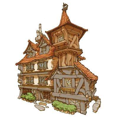 Best 25 cartoon house ideas on pinterest house sketch for Fantasy house plans