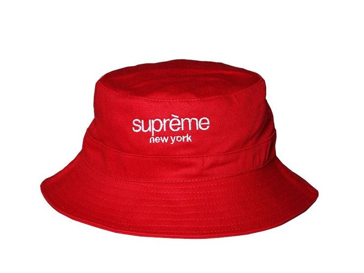 "Mens Supreme The Supreme ""New York"" City Series Golf Camp Fashion Fishing Bucket Hat - Red"