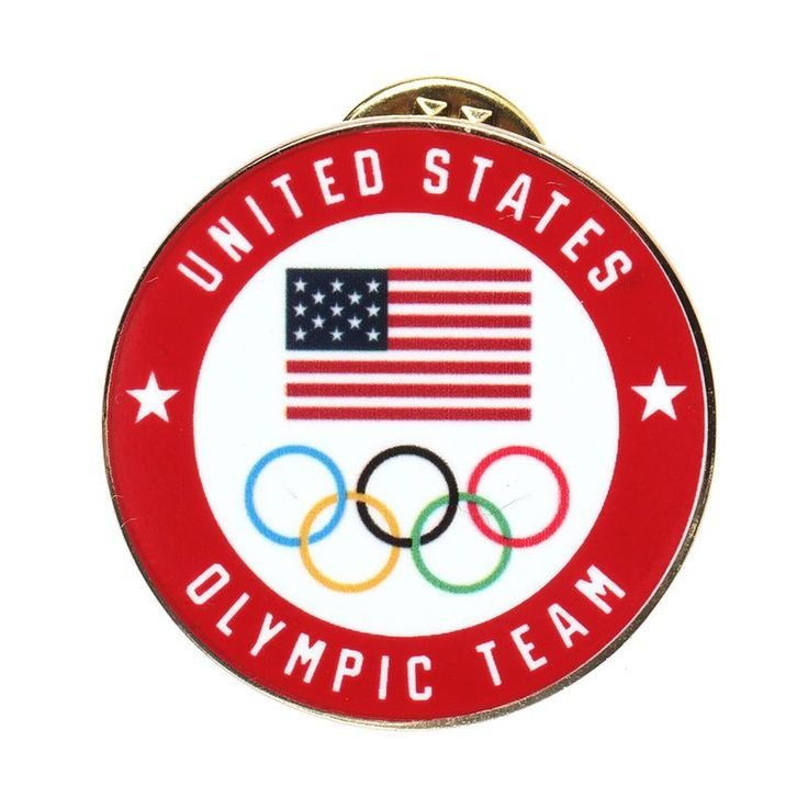 Team USA 2018 Winter Olympics Circle Lapel Pin