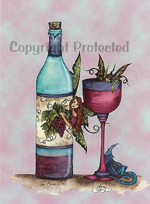 Image detail for -Too Much Wine Amy Brown Fairies 5X7 Fairy Art Card | eBay