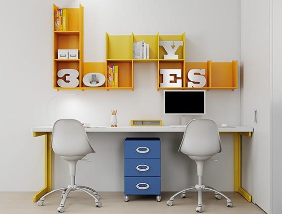 #Arredamento #Cameretta Moretti Compact: Catalogo Start Solutions 2013 >> LH26 #scrivania #mensole #cassetti http://www.moretticompact.it/start.htm