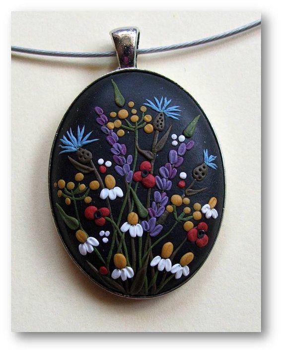Цветочные украшения Весна Цветочные украшения полимера цветка от Floraljewel