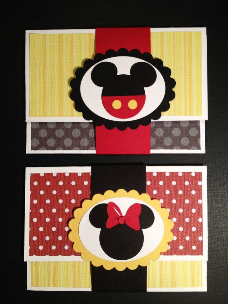 Handmade Disney Mickey Minnie Gift Card Money Holder--You Choose #Handmade