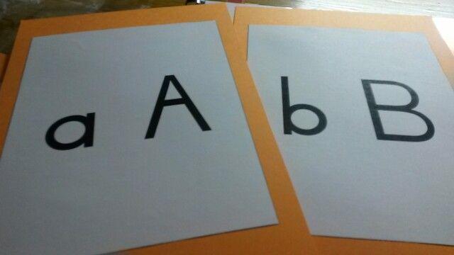 DIY flashcards #ABCFont