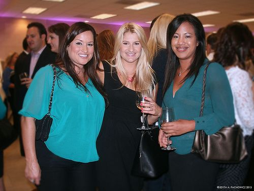 Guest Christine Cacho (right) with other event guests