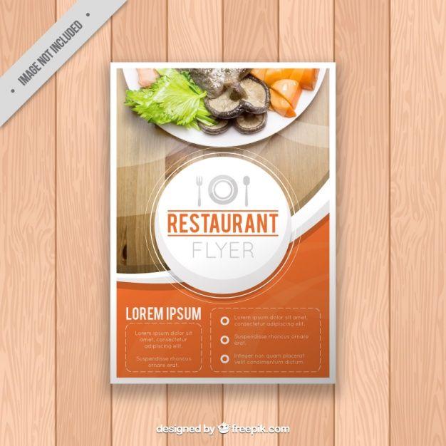 Restaurant brochure template Free Vector