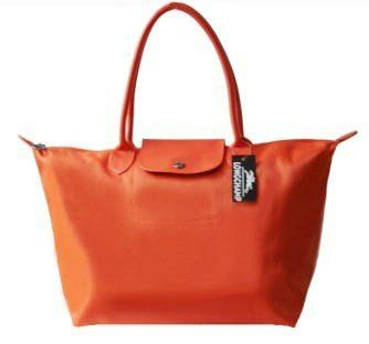 Cheap Longchamp Planetes Tote Bags Orange
