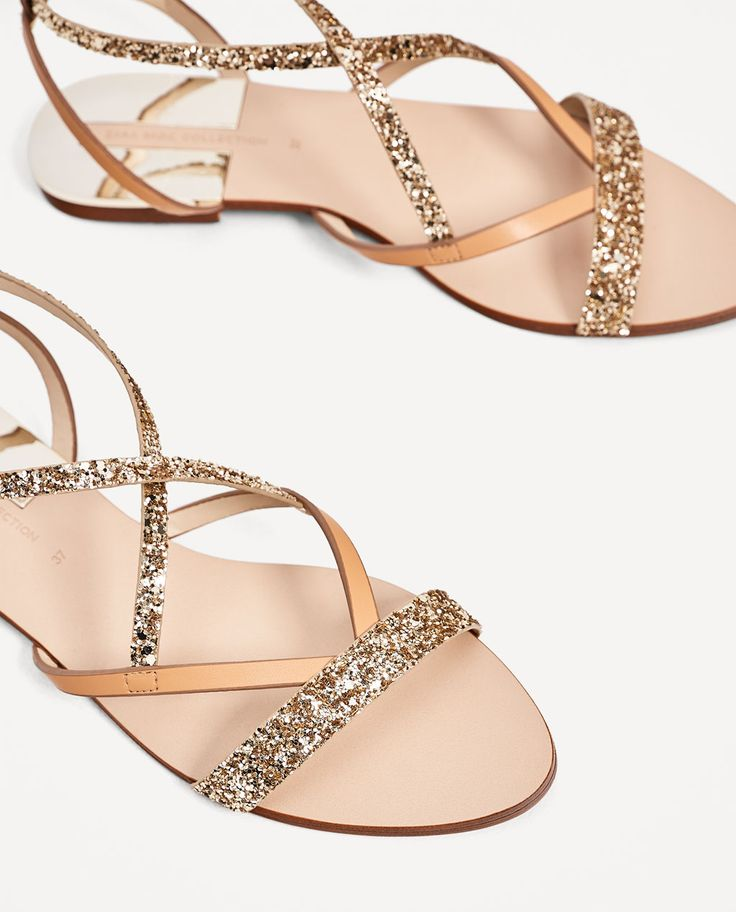 FLAT SANDALS WITH SHINY STRAPS-NEW IN-WOMAN | ZARA Spain