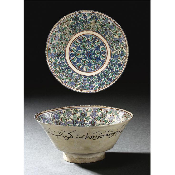 A KASHAN MINAI POTTERY BOWL, PERSIA, 13TH CENTURY