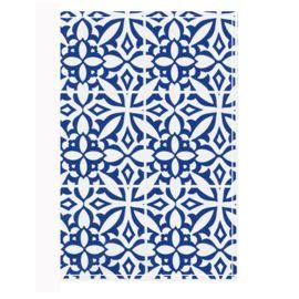 Autopapierenmapje blauw/wit delfsblauw.