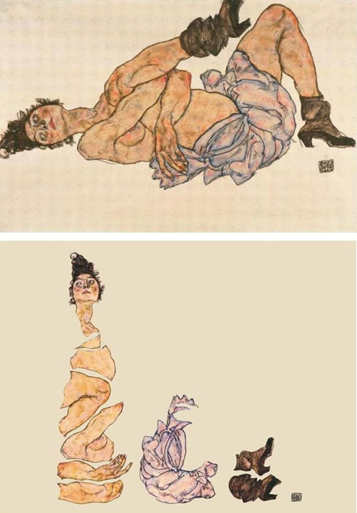 "Ursus Wehrli, Tidying Up Art. Egon Schiele ""Reclining Female Nude"" http://www.demilked.com/tidying-up-art-ursus-wehrli/"