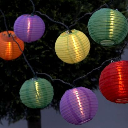 82 best gardens great and small images on pinterest outdoor bq raphia lantern mains powered 20 led string lights aloadofball Images