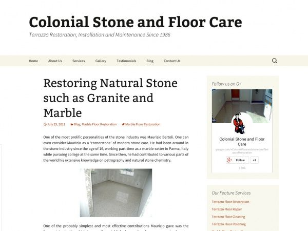 Restoring Natural Stone such as Granite and Marble