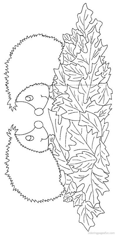 Hedgehogs Coloring Pages 15