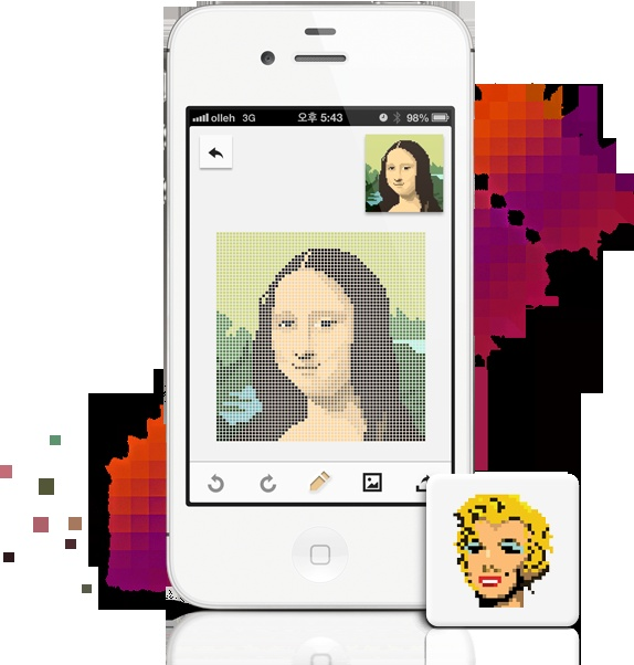 Draw pixel art with Dots for iPhone
