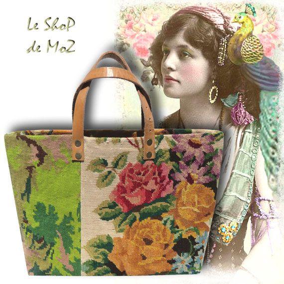 Le Danie Sac en Tapisserie Vintage & Cabas en par LeShoPdeMoZ