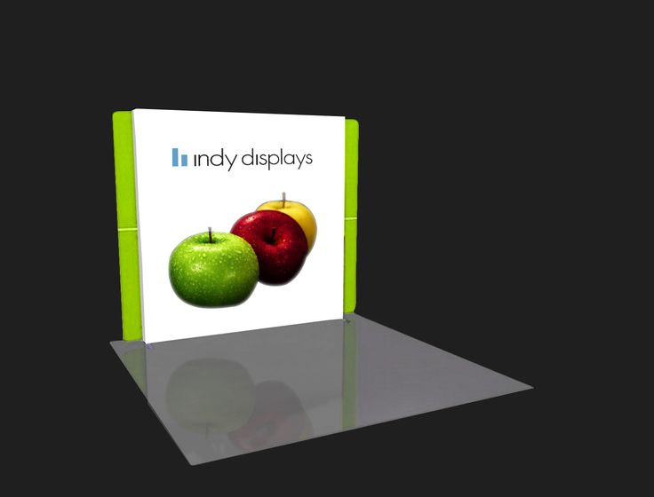 Get creative by upgrading your event booth space by branding your products on a portable #LED #Lightbox #TradeShowDisplay #Backlit #Wall , Chat Live with an LED lighting expert at indydisplays.com