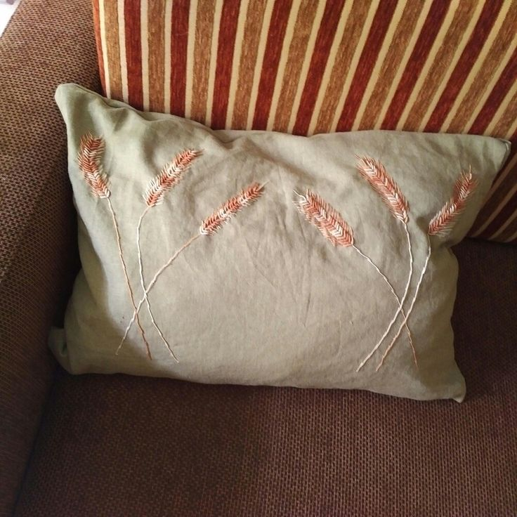Hand embroiderd, self made pillow